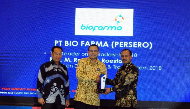 Foto Berita Bos Bio Farma Sabet Top Leader on IT Leadership 2018
