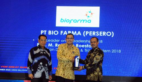 Foto Bos Bio Farma Sabet Top Leader on IT Leadership 2018