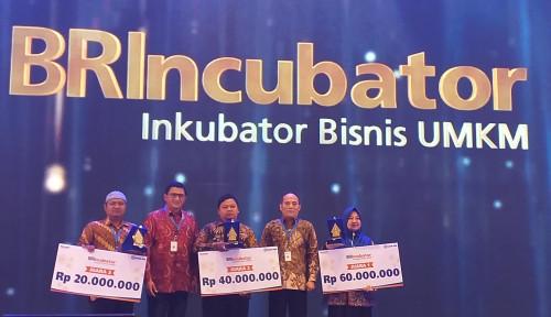Foto Dukung Ekspor UMKM, BRI Helat Malam Penganugerahan BRIncubator 2018
