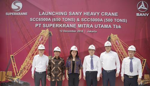 Foto Superkrane Datangkan 2 Crane Besar untuk Proyek Kereta Cepat