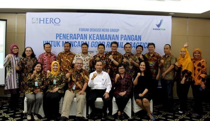 Foto Berita Bersama BPOM, Hero Group Terapkan Ritel Pangan yang Baik