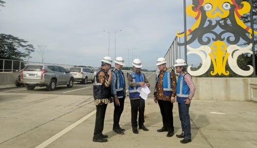Foto Progres Konstruksi 96%, Tol Balikpapan-Samarinda Bakal Beroperasi Akhir Tahun