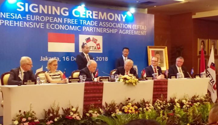Foto Berita Indonesia Sepakati Kerja Sama Perdagangan IE-CEPA