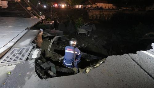 Foto Ini Perkembangan Kasus Amblesnya Jalan Gubeng Surabaya