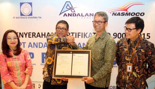 Foto Andalan Finance Raih Sertifikasi ISO 9001:2015