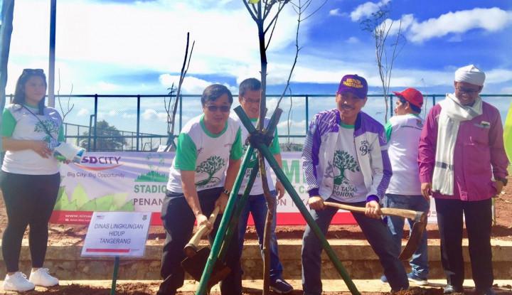 Sinar Mas Land Tanam 1.000 Pohon di Stadion Benteng Taruna - Warta Ekonomi