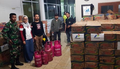 Foto Posko Krakatau Steel Tampung dan Distribusikan Beragam Bantuan BUMN