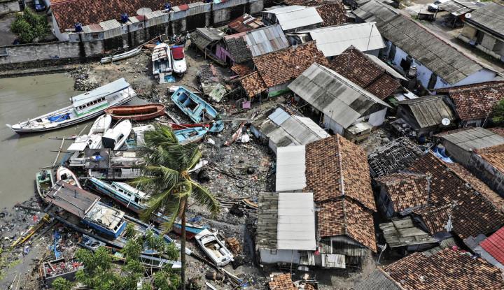 Foto Berita Tentang Tsunami Selat Sunda, Ma'ruf Amin: Ini Ujian