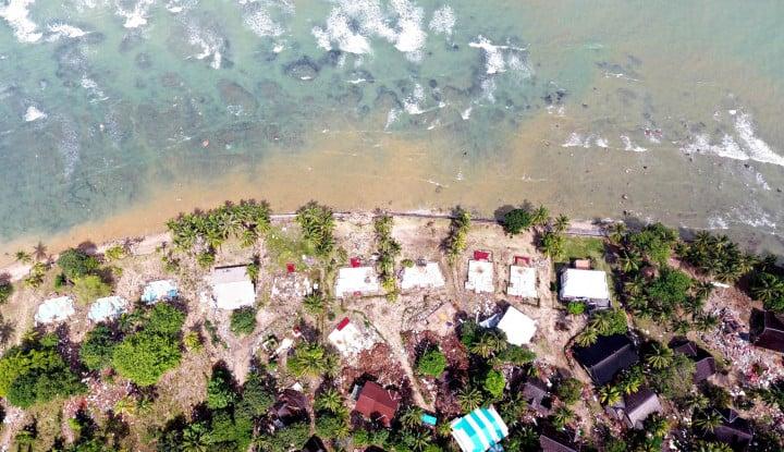 Foto Berita Diterjang Tsunami, Kawasan Wisata Jababeka di Tanjung Lesung Tak Beroperasi