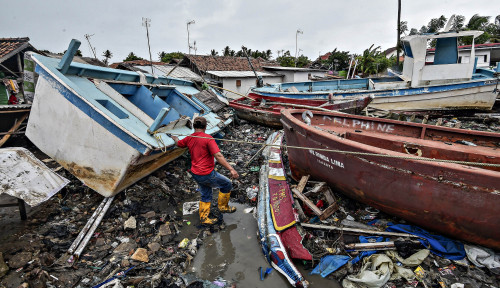 Foto Kerusakan KEK Tanjung Lesung Bakal Ditanggung Asuransi