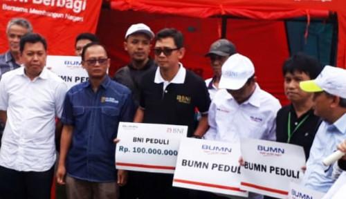 Foto BNI Salurkan Bantuan untuk Korban Tsunami di Lampung