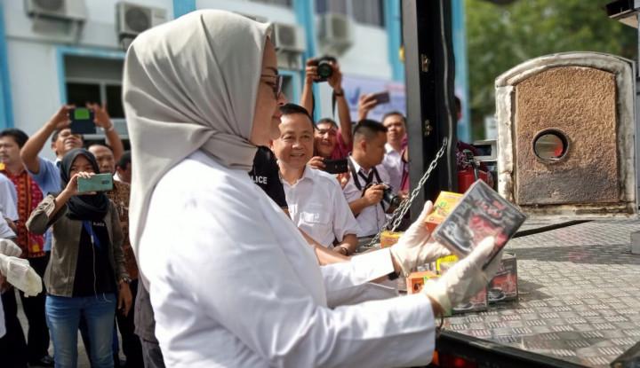 Foto Berita Sepanjang 2018, BPOM Medan Musnahkan Obat dan Makanan Senilai Rp2 M