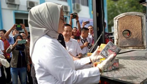 Foto Sepanjang 2018, BPOM Medan Musnahkan Obat dan Makanan Senilai Rp2 M