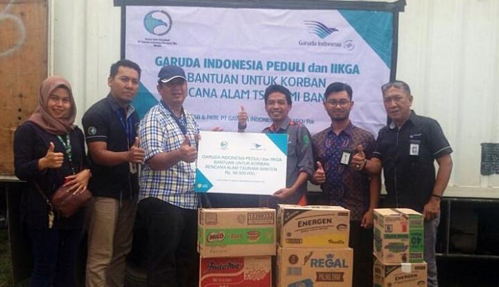 Garuda Indonesia Salurkan Bantuan untuk Korban Tsunami di Wilayah Pandeglang - Warta Ekonomi