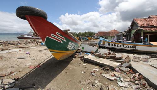 Foto BMKG: Masih Ada Potensi Tsunami di Selat Sunda