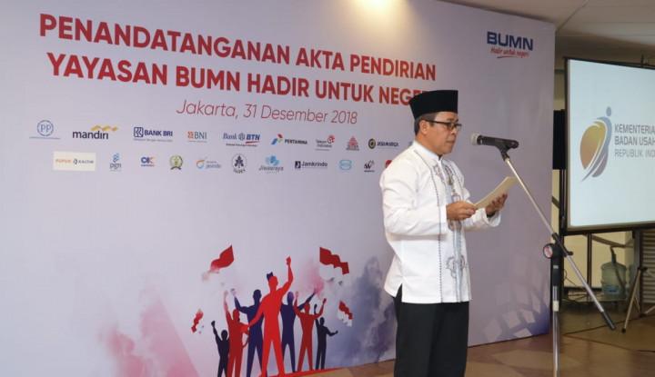Foto Berita Kementerian BUMN Resmikan Yayasan BUMN Hadir untuk Negeri
