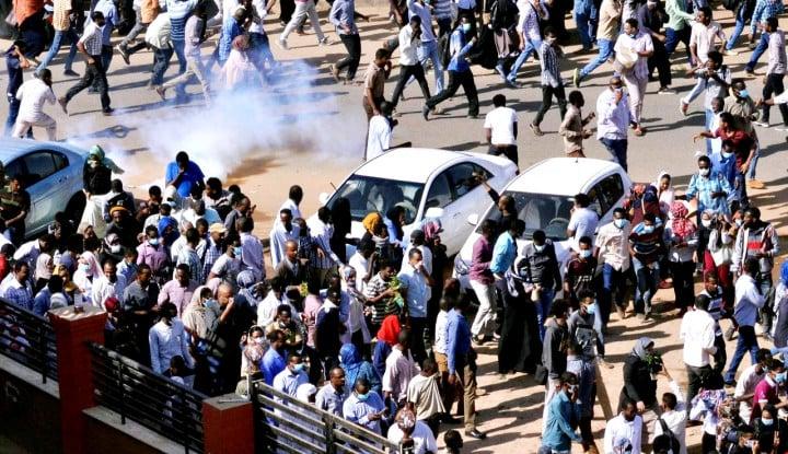 Foto Berita Demonstrasi Masih Bergejolak di Sudan