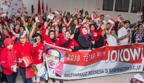 Foto Pendukung Jokowi di Washington DC Gelar Acara
