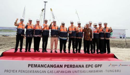 Foto Pertamina EP Cepu Lakukan Pemancangan Perdana EPC GPF