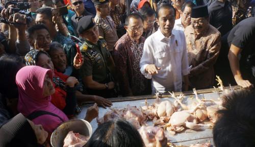 Foto Blusukan ke Pasar Ngemplak, Presiden Pastikan Harga Beras Stabil