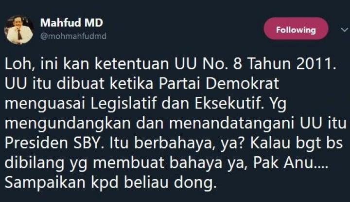 Foto Berita Mahfud MD Naik Darah Gara-Gara Anak Buah SBY