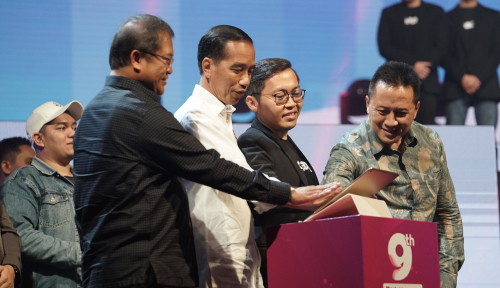 Foto Tagar #JokowiOrangnyaBaik Masuk Trending Topic Dunia