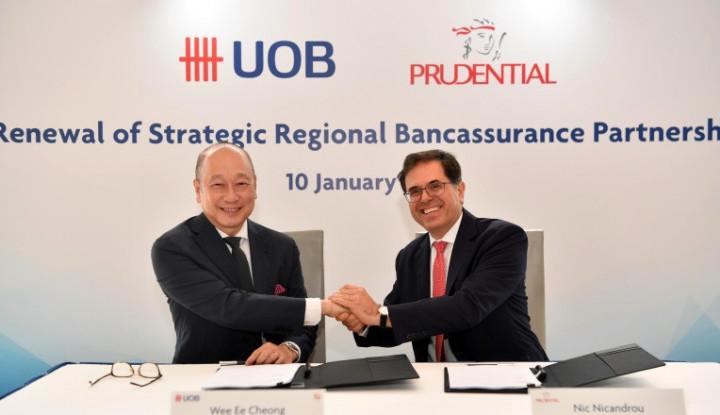 UOB Gelontorkan SGD1,15 Miliar untuk Kerja Sama Bancassurance dengan Prudential - Warta Ekonomi