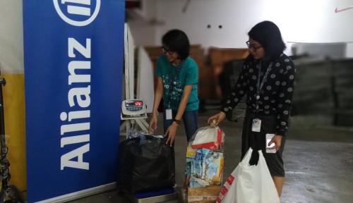Foto Jalankan Bank Sampah Gusling, Allianz Kumpulkan 8,3 Ribu Kg Sampah