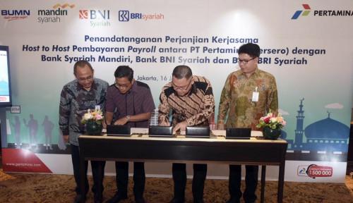 Foto BayarGaji Karyawan, Pertamina Gandeng3 Bank Syariah