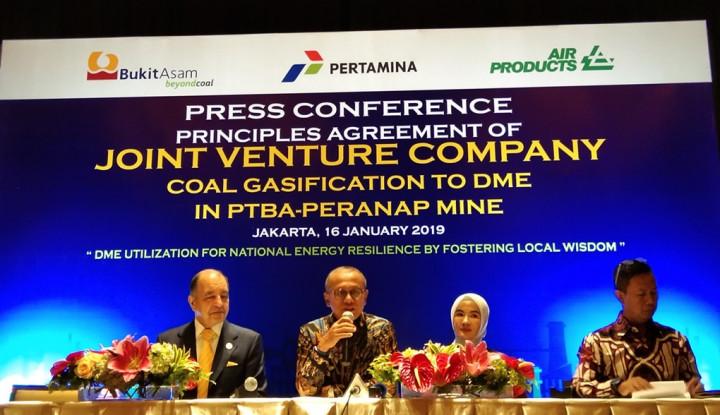 DME Joint Venture PTBA, Pertamina, dan Air Products Dijamin Lebih Murah - Warta Ekonomi