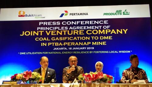 Foto DME Joint Venture PTBA, Pertamina, dan Air Products Dijamin Lebih Murah