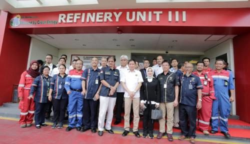 Foto Kunjungi Green Refinery di Sumsel, Menteri Jonan Apresiasi Pertamina
