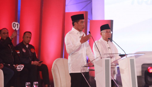 Foto Jokowi: Ma'ruf Amin Jawab Terorisme dari A sampai Z