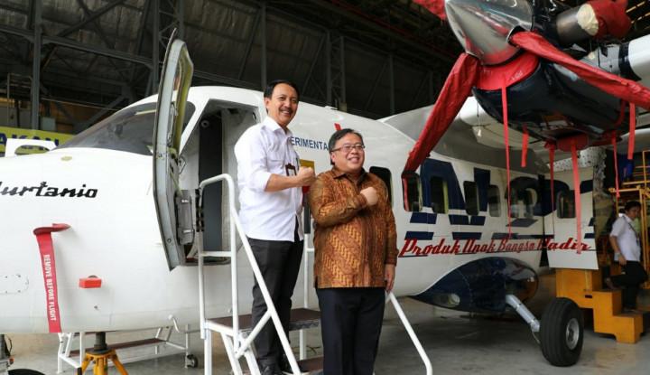 Foto Berita Tinjau Hanggar Fixed Wing, Menteri Bambang Sampaikan Tantangan Pembuatan Jet Tempur