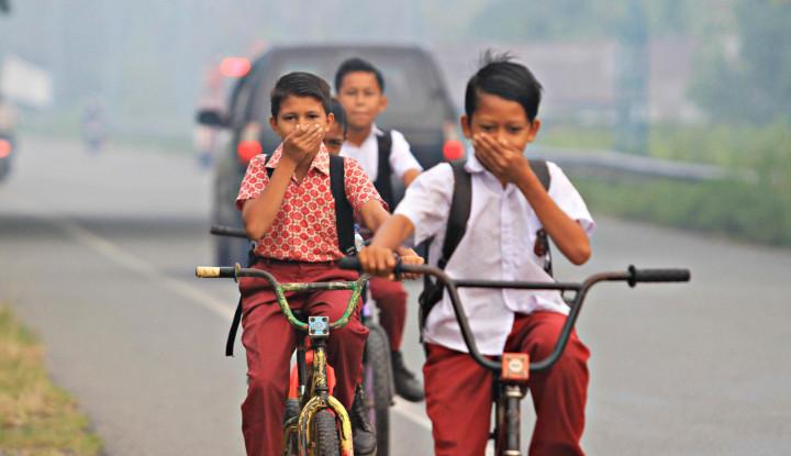 Gara-gara Asap, Anak Sekolah Jadi Korban - Warta Ekonomi