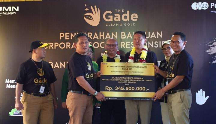 Foto Berita Kurangi Sampah DKI Jakarta, Pegadaian Resmikan Bank Sampah Jadi Emas di Menteng