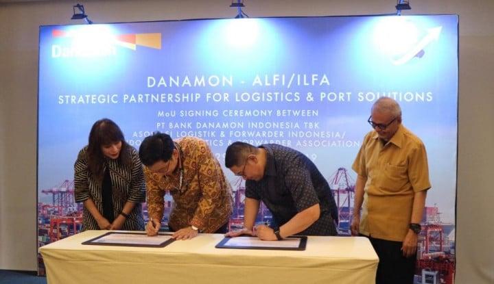 Teken MoU dengan ALFI, Bank Danamon Implementasi Layanan Keuangan - Warta Ekonomi