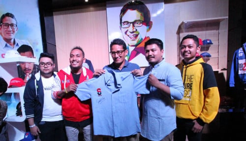 Foto Sandiaga Uno Luncurkan Merek Merchandise Thesandiuno
