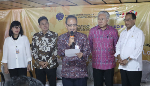 Foto Pembacaan Deklarasi Doro Londa HPN 2019 Bersama Kementerian Perhubungan