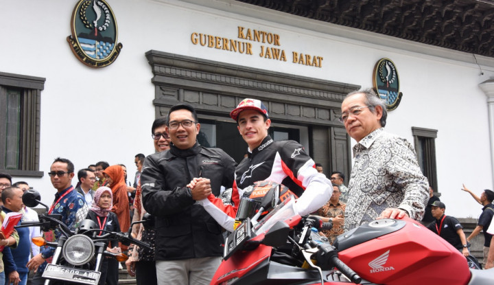 Foto Berita Disaksikan Marc Marquez, Honda Berdayakan UMKM Jabar