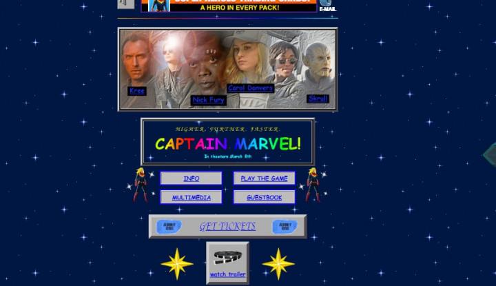 Unik! Begini Jadulnya Tampilan Situs Film Captain Marvel
