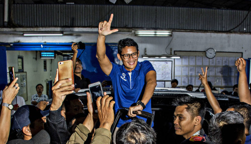 Foto Sandi Akui Tak Berani Lawan Ma'ruf Amin dengan Ayat-Ayat