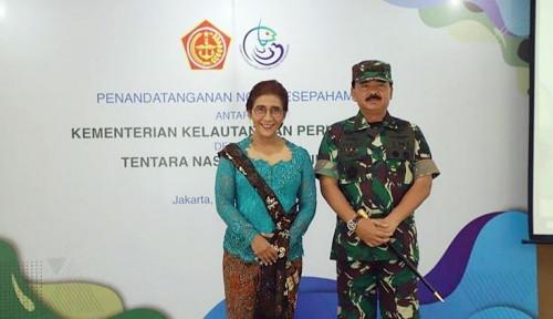 Foto Amankan Kekayaan Laut Indonesia, Menteri Susi Gandeng TNI