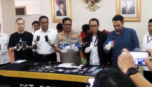 Foto Polda Metro Jaya Tangkap Sindikat Order Fiktif Go-Jek