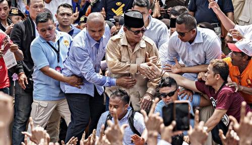 Foto Wow, Kubu Prabowo Gelar Kampanye di Dekat Rumah Jokowi
