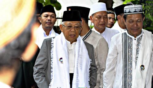 Foto Tanggapan Ma'ruf Amin Soal Serangan Arief Poyuono ke Jokowi 'Ngeri'