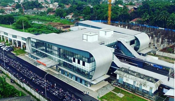 Cantik dan Futuristik, Gedung Baru Stasiun Cisauk Resmi Beroperasi - Warta Ekonomi