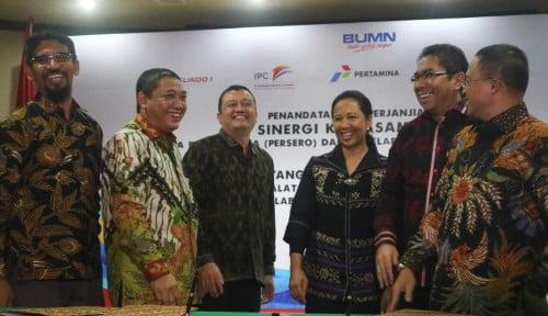 Foto Empat BUMN Pelabuhan Teken SKB Implementasi Sub-Holding Peralatan Pelindo Incorporated