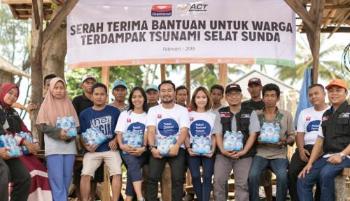 Foto Diamond Group Salurkan 49 Ribu Air Mineral ke Korban Tsunami Selat Sunda
