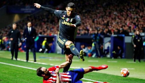 Foto Ronaldo Mati Gaya, Juventus Keok 0-2 di Tangan Atletico Madrid